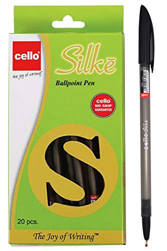 Bic Cello Slike - Bolígrafo de punta media (20 unidades), color negro Pack de 20