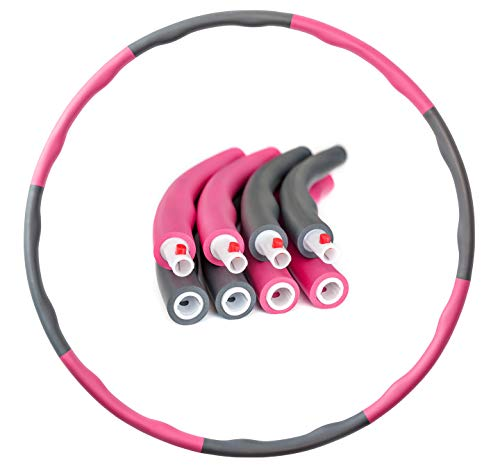 PRECORN Hula Hoop Reifen D 96 cm Fitness Reifen zur Gewichtsreduktion Hoola Hup Reifen für Erwachsene & Kinder
