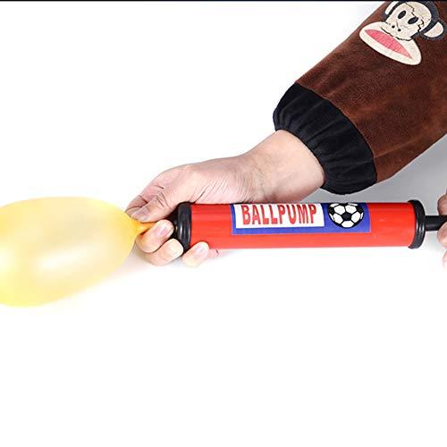 Dual Action Ball Pomp met Vervangende Naalden, 1 Stks Mondstuk, Air Pomp voor Opblaasbare met Naald voor Basketbal, Volleybal, Voetbal, Voetbal en Sport Ball Inflatie