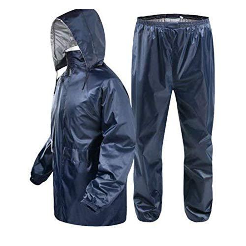 EER WEAR Bike/Scooter Water Proof Blue Plain Rain Coat with Bag (Random Colour, Medium)