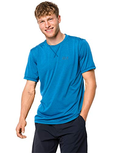 Jack Wolfskin Herren Crosstrail T-Shirt, Brilliant Blue, XL