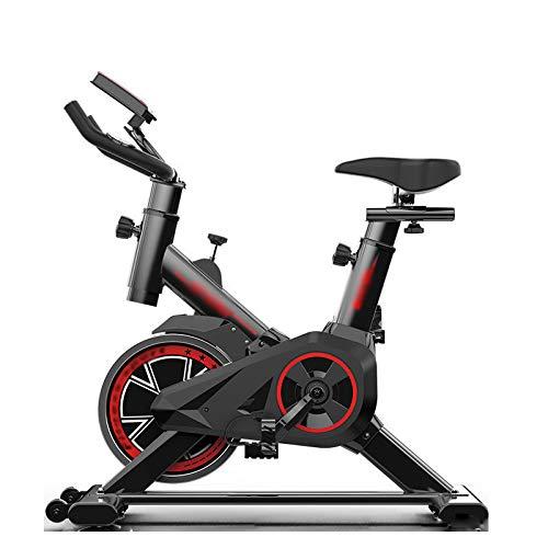 PHASFBJ Vélo de Vitesse d'intérieur, vélo de Fitness à entraînement par Courroie Silencieux,siège et résistance réglables,Mesure du pouls du Home Trainer en Option,with LED Screen