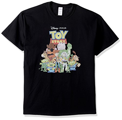 Disney Playera Toy Story para Hombre, Negro, X-Large