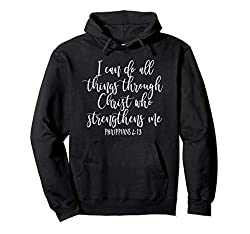 Philippians 4:13 hoodie, I can do all things through Christ, black
