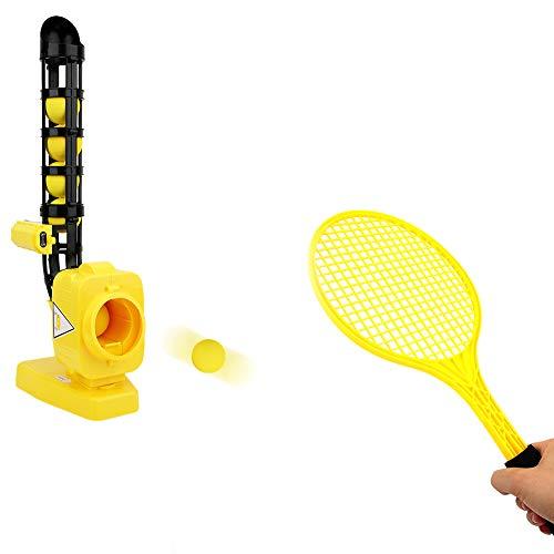 Alomejor Automatische Baseball Maschine Baseball Tennis Pitching Gaming Machine Spielzeug für Kinder Training Sport(Gelb)