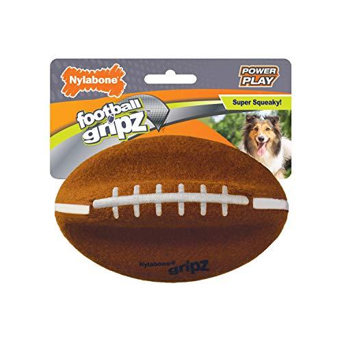 "Nylabone Power Play Dog Felt Football Gripz, Medium 5.5"""