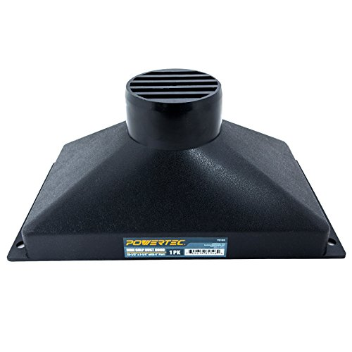 "POWERTEC 70169 Mini Gulp Dust Hood with 4"" Port, 13-1/2"" x 7-1/4"""