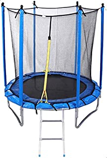Round Trampoline with Safety Net Fence and Ladder, 245 cm