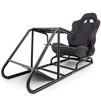 VEVOR Driving Simulator Seat Adjustable Driving Gaming Reclinable Seat with Gear Shifter Mount fit for Xbox fit for Xbox 360 fit for Xbox One Racing Wheel Stand Cockpit Racing Simulator Seat
