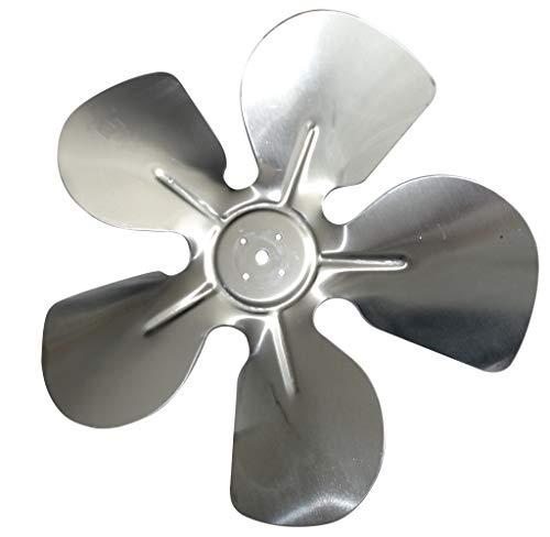 AERZETIX- Elica pala del Ventilatore Alluminio Ø254mm 28° - Aspirazione -Sinistra - C43401