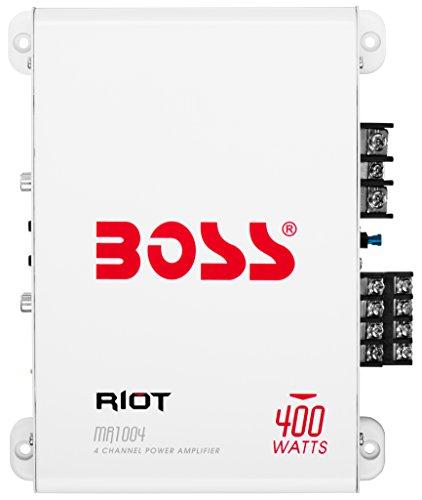BOSS Audio Systems MR1004 Marine Grade 400 Watt, 4 Channel, 2 4 Ohm Stable Class AB, Full Range Amplifier