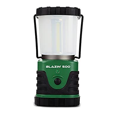 Brightest LED Camping & Hurricane Lantern - Battery Operated - 500 Lumen - Runs Up to Six DaysContinuously