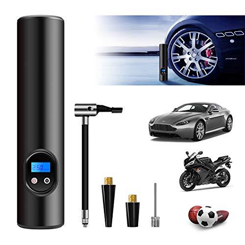 WERPOWER Compressore Portatile Aria Mini Pompa pneumatica con Batteria 6000mAh Ricaricabile con Luce di Wmergenza a LED per Biciclette, Pneumatici, Palline e Altri Gonfiabili ES