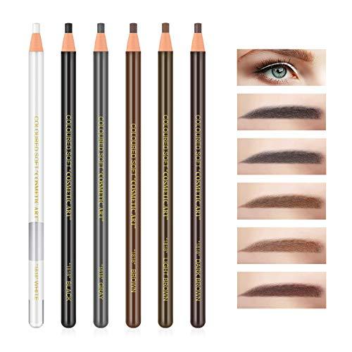 Freeorr 6Pcs Pull Cord Peel-off Augenbrauenstift Tattoo Make-up und Microblading Supplies Set zum Markieren, Füllen und Gliedern, wasserdicht und langlebig Permanent Eyebrow Liner