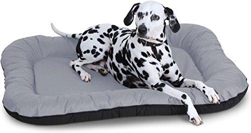 Knuffelwuff Hundebett Lucky In und Outdoor Hundekissen Hundesofa Hundekörbchen Hundekorb, Größe XXL Grau