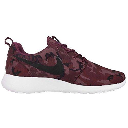Nike Roshe Run Impresión, Hombre Zapatillas Running - villain rojo black equipo rojo ligero mulberry 660, hombre, 9 UK / 44 EU / 10 US
