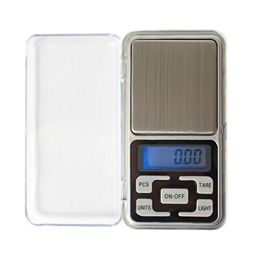 Básculas Báscula de peso electrónica portátil 0,01g de alta precisión con retroiluminación bolsillo eléctrico para joyería, gramo de peso, balanzas de cocina-100g