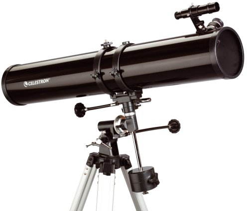 Celestron PowerSeeker 114 EQ - Telescopio (zoom 45x), color negro