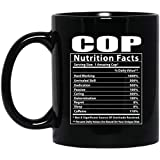 Funny Cop Nutritional Facts Tazza da caffè nero 11oz