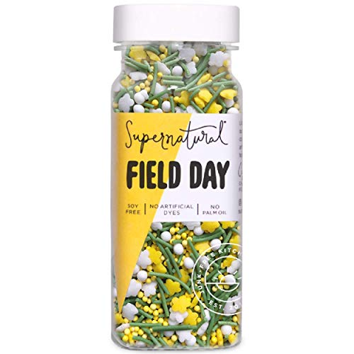 Field Day Flower Sprinkles by Supernatural, Natural Confetti Sprinkles for Healthy Baking, Gluten-Free, Vegan, No Artificial Dyes, Soy Free, 3 oz