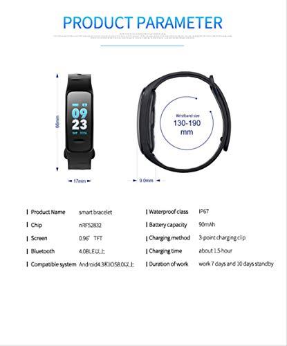 Pulsera inteligente con pantalla a color, monitor de frecuencia cardíaca impermeable, Fitness Tracker Bluetooth, reloj… 5