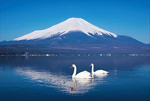 【Amazon.co.jp 限定】逆さ富士の湖面を泳ぐ白鳥 ポストカード3枚セット P3-098