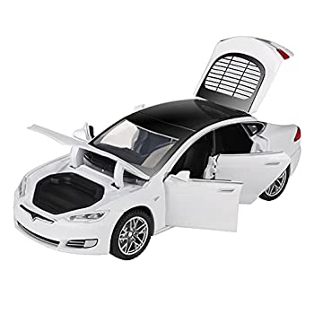 ZHFUYS Diecast Toy Car,1 32 Zinc Alloy Model S Toy Cars 4 To12 Year Pull Back Toy Cars White
