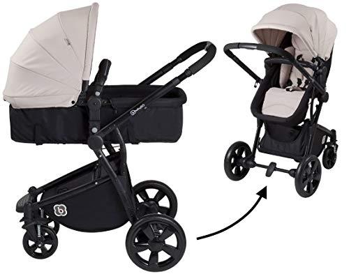 babyGo Spring beige Kombikinderwagen Sportwagen mit Babywanne