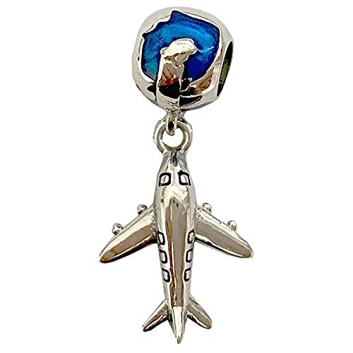 Pandora 925 colgante de plata esterlina Diy NUEVO Original mujer joyería encanto cuentas de avión ajuste brazalete pulsera accesorios hacer regalo