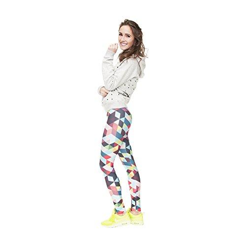 Hanessa vrouwen Leggings bedrukte legging cadeau voor Kerstmis broek lente zomer kleding bonte ruiten L72