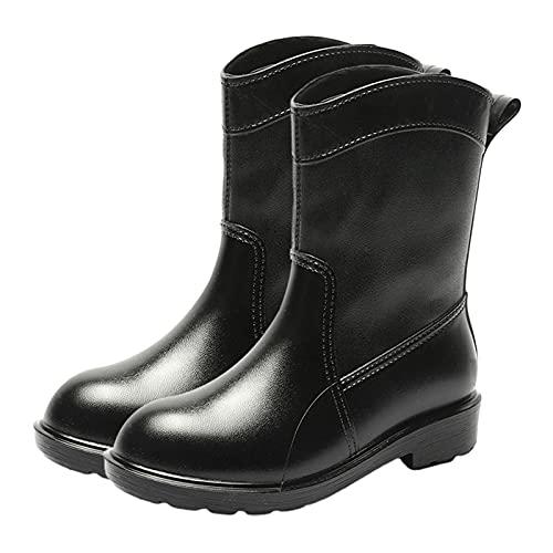 Chrty - Stivali da pioggia da donna a metà polpaccio, da giardino, da pioggia, da neve, alla moda, comodi, impermeabili, antiscivolo, per campeggio all'aperto, escursionismo