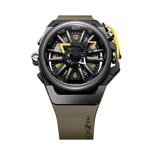 Mazzucato Rim Orologio da uomo reversibile automatico e cronografo con cinturino in gomma FKM Khaki 04-GN136