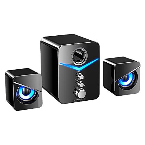 ZEIYUQI Sistema de Altavoces de Cine en Casa de 2.1 Canales,Bluetooth V5.0...