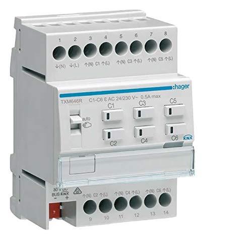 Hager Heizungsaktor 6fach KNX TXM646R Easy m.Regler 24/230 Bussystem-Heizungsaktor 3250618502046