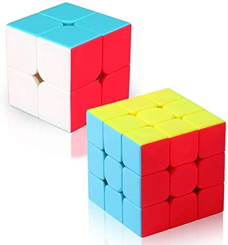 RENFEIYUAN Set, MA-Set von 2x2x2 3x3x3 glatt magischer würfel (Color : Stickerless Set)