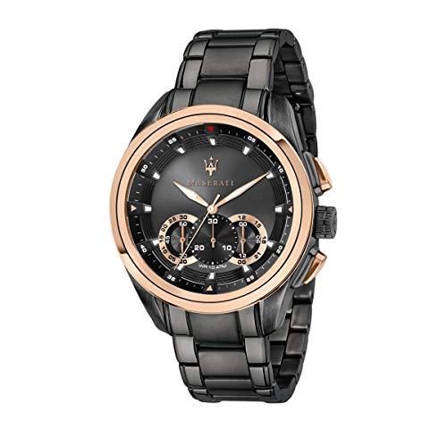 Reloj para Hombre, Colección TRAGUARDO, en Acero, PVD Gris, PVD Oro Rosa - R8873612016