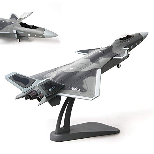 XHH WZRY Model plane, 1/72 Scale China Airforce J-20 Fighter Plane,Metal Fighter Military Model,Diecast Plane Model,for Commemorate Co(Airplane model decoration toy)
