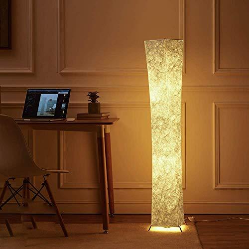 lvyuan Lámpara de Pie Moderna Bombilla LED incluida para la Decoración de la Sala de Estar 20x20x132cm