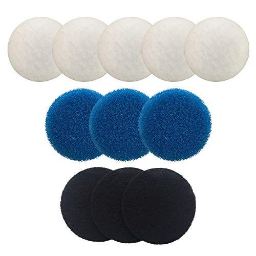 Finest-Filters Juego de filtros compatibles para Eheim Classic 2213, incluye 5 x poliéster, 3 x espuma gruesa, 3 x espuma de carbono
