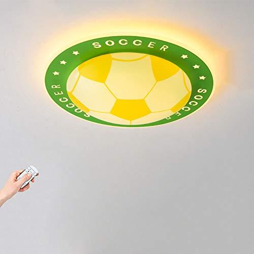 LED Fußball Deckenleuchte Kinderzimmer Fußball-Lampe Dimmbar mit Fernbedienung Modern Deckenlampe aus Acryl Rund 40W 3260lm 3000-6500K für Jungen und Mädchenr Wohnzimmer Schlafzimmer Φ50cm