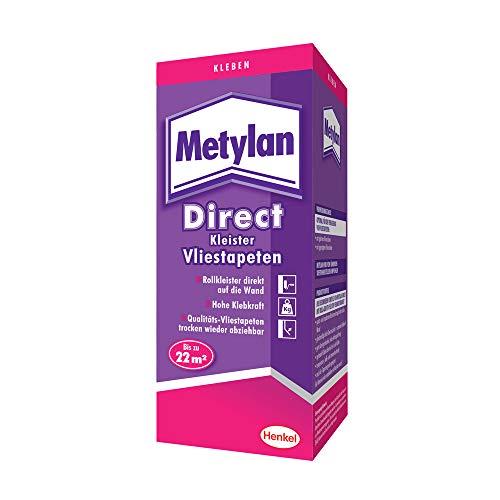 Metylan Direct Vliestapetenkleister, hochwertiger Kleister für den direkten Auftrag auf die Wand, Tapetenkleister für glatte und geprägte Tapeten, für bis zu 44m² (1x400g)