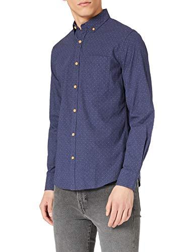 Springfield Camisa, Estampado Azul, M para Hombre