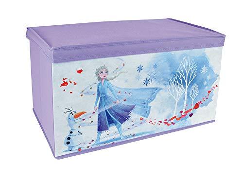 FUN HOUSE 713188 Disney Reine des NEIGES Coffre à Jouets Pliable pour Enfant, Violet