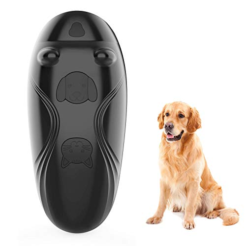 Facamword Ultrasonic Bark Deterrents - Dog Sound Training Control Device - Sonic Anti Barking Device Indoor Outdoor - Electronic Pet Whistle Trainer