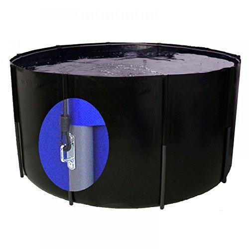 Pliable Bac 250 x 100 cm, 4900 L, noir, avec œillets, filet koibecken
