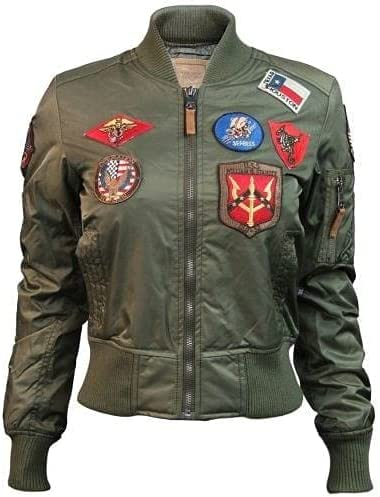 Official Miss Top Gun MA-1 Bomber Jacket with Patches