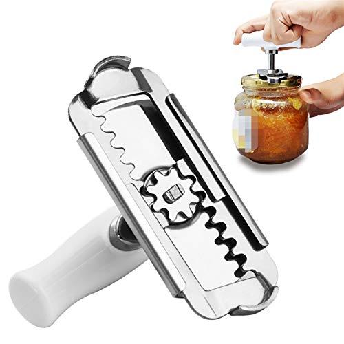 Chenhan Abridor Botellas Manual Ajustable Acero Inoxidable Easy Can Abrezca 1-4 Pulgadas Cap Tapa Abres de Tapa Herramienta Gadgets de Cocina Abrebotellas Tarro abridor
