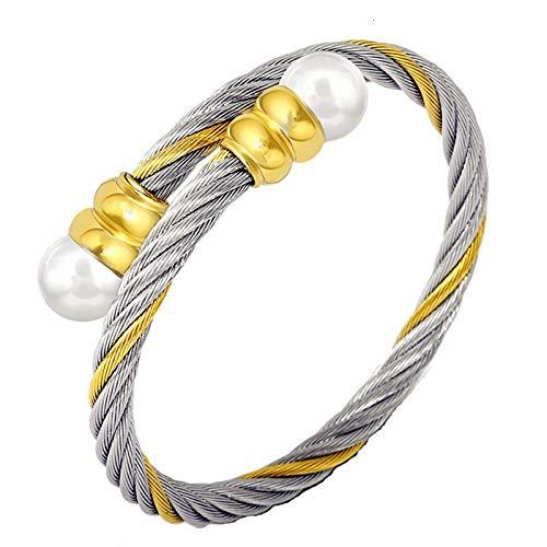 Bracelet Nouveau Mode Titanium Bracelet en Acier Bracelet Hommes Femmes Câble Métallique Taille Adjsutable Bracelet pour Hommes Femmes Bijoux Cadeau 2