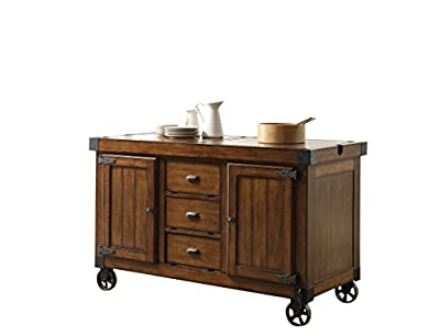 ACME Furniture 98186 Kabili Kitchen Cart, Antique Tobacco by Acme Furniture