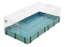 powerful Guinea Habitat Guinea Pig Cage by MidWest, 47L x 24W x 14H inch